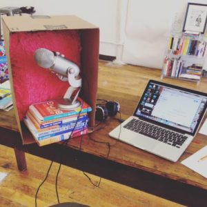 diy-sound-microphone-box-recording-claimthestage-podcast-speakersisterhood