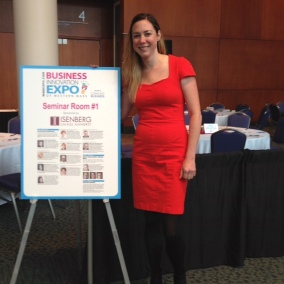 Angela speaking at the Business Expo (Springfield, MA)