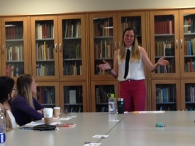Angela speaking at the Leaders OnBoard program at Greenfield Community College, https://speakersisterhood.com/contact-angela/