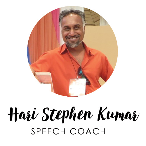 Hari Stephen Kumar, Speech Coach
